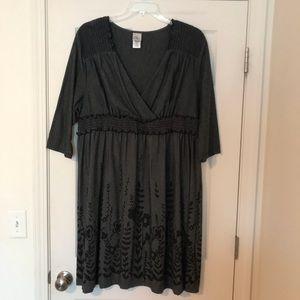 Just My Size 3X Grey/Black Knee-length Dress